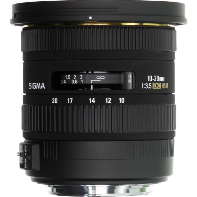 10-20mm f/3.5 EX DC HSM CANON, Lentille