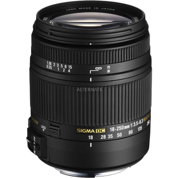 18-250mm F3.5-6.3 DC Macro OS HSM SLR Objectif macro Noir, Lentille