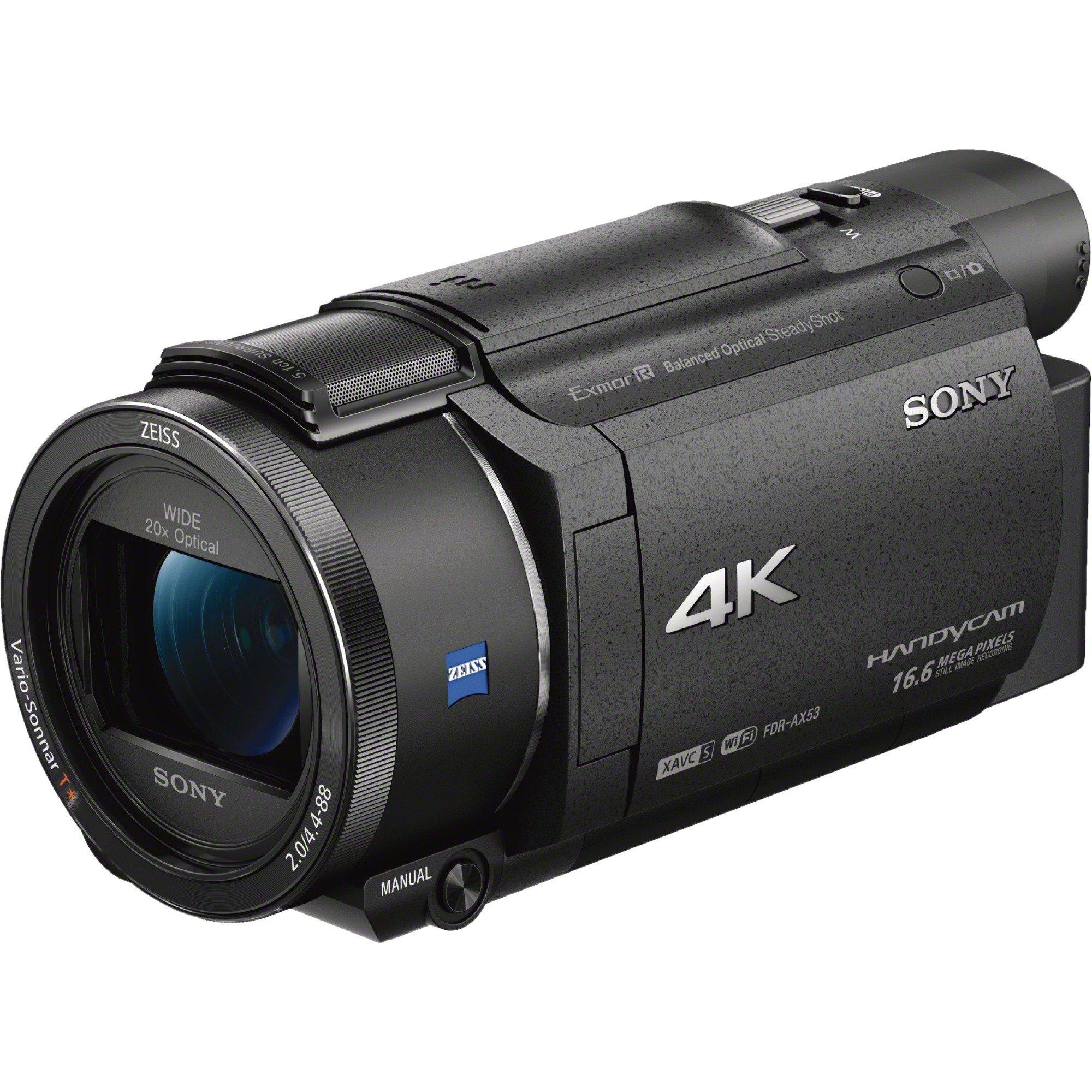 FDR-AX53 Camescopes Classique Zoom Optique 20 x 8.57 Mpix, Caméra vidéo