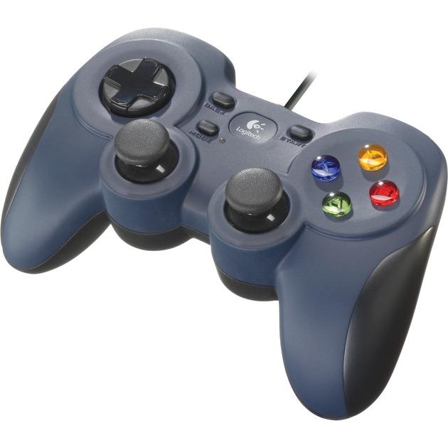 F310 Manette de jeu PC Noir, Bleu