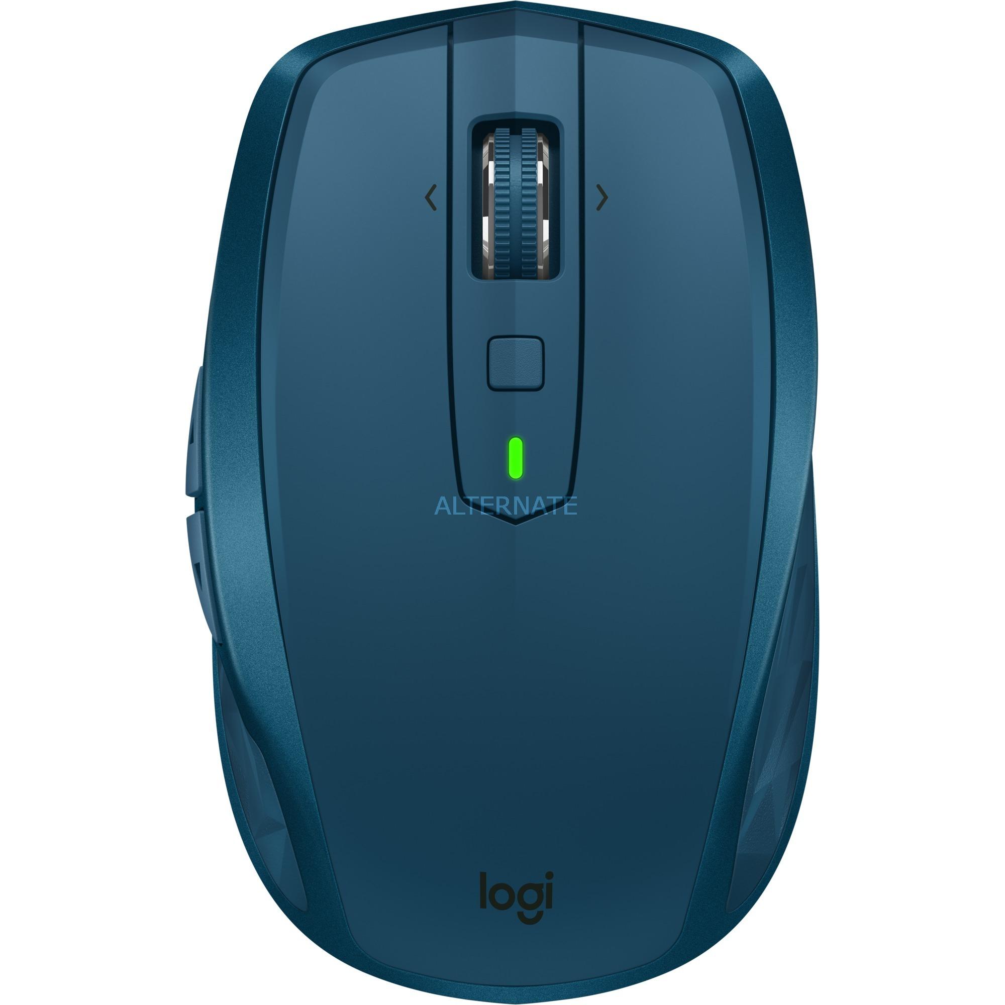 MX Anywhere 2S RF Sans fil + Bluetooth 4000DPI Droitier Bleu souris