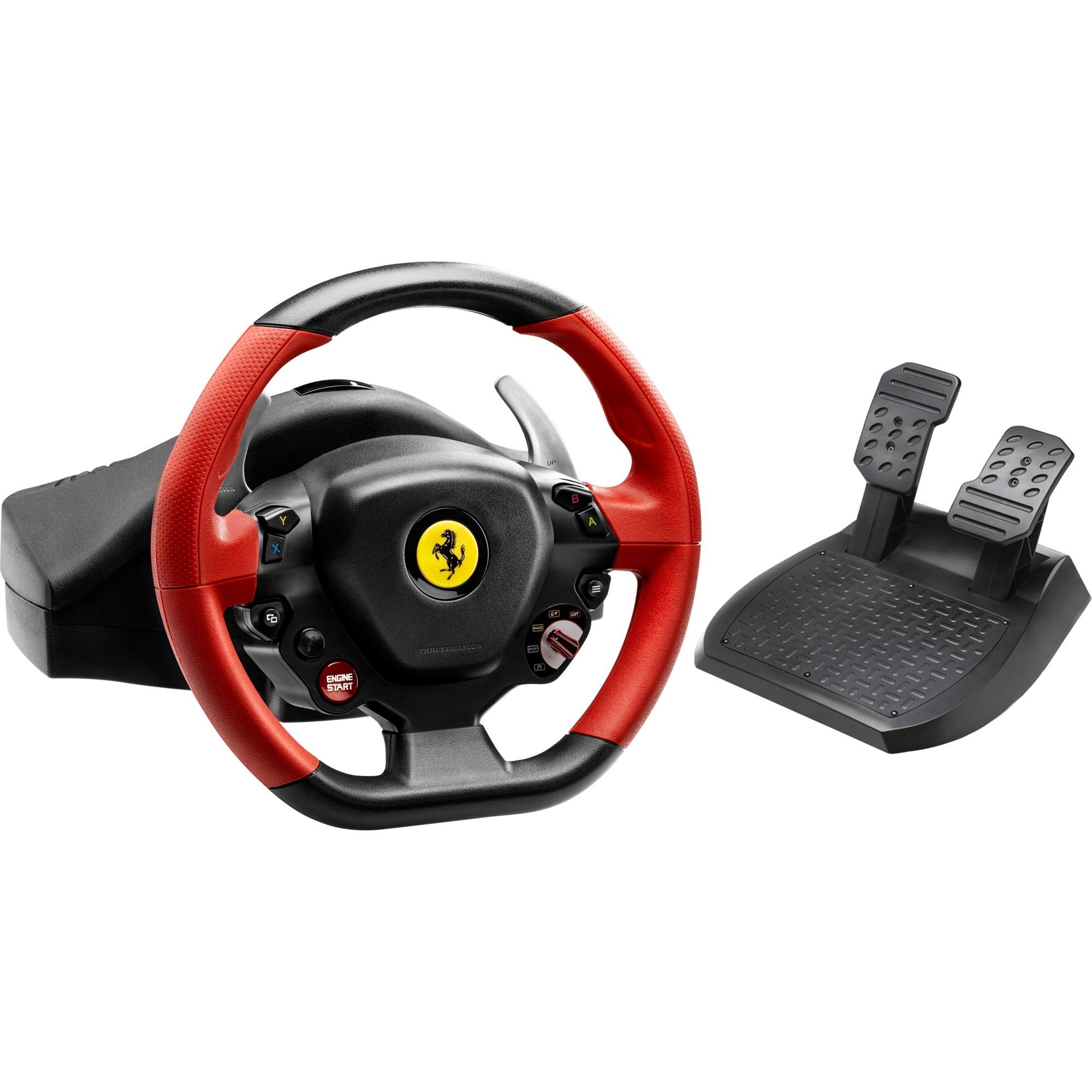 Ferrari 458 Spider Volant + pédales Xbox One Noir, Rouge, Volant de direction