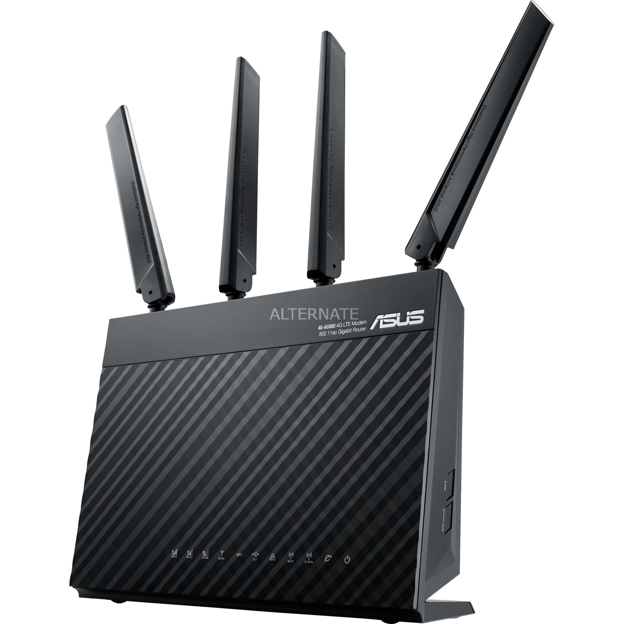 4G-AC68U Bi-bande (2,4 GHz / 5 GHz) Gigabit Ethernet 3G 4G Noir routeur sans fil