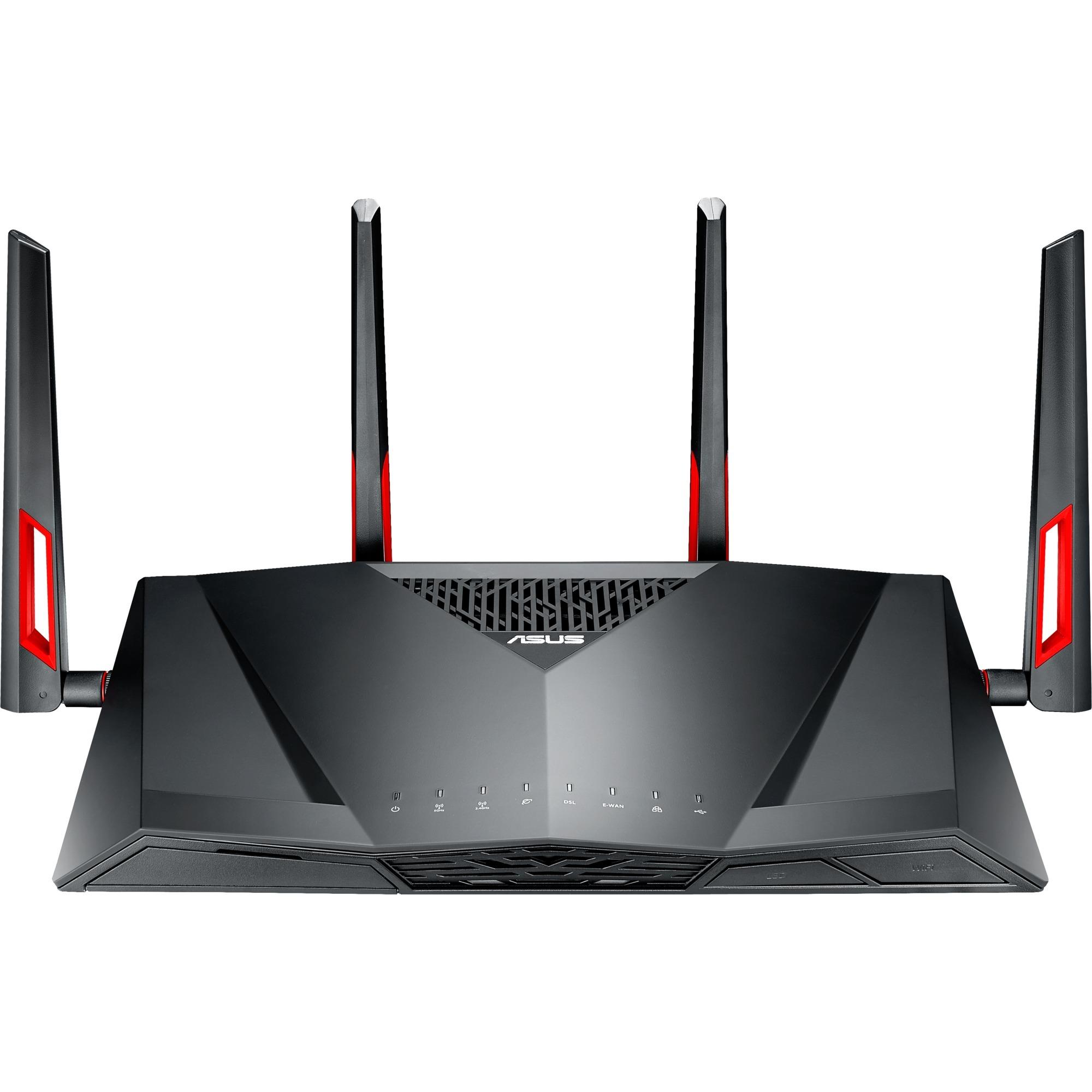 DSL-AC88U Bi-bande (2,4 GHz / 5 GHz) Gigabit Ethernet Noir, Rouge routeur sans fil