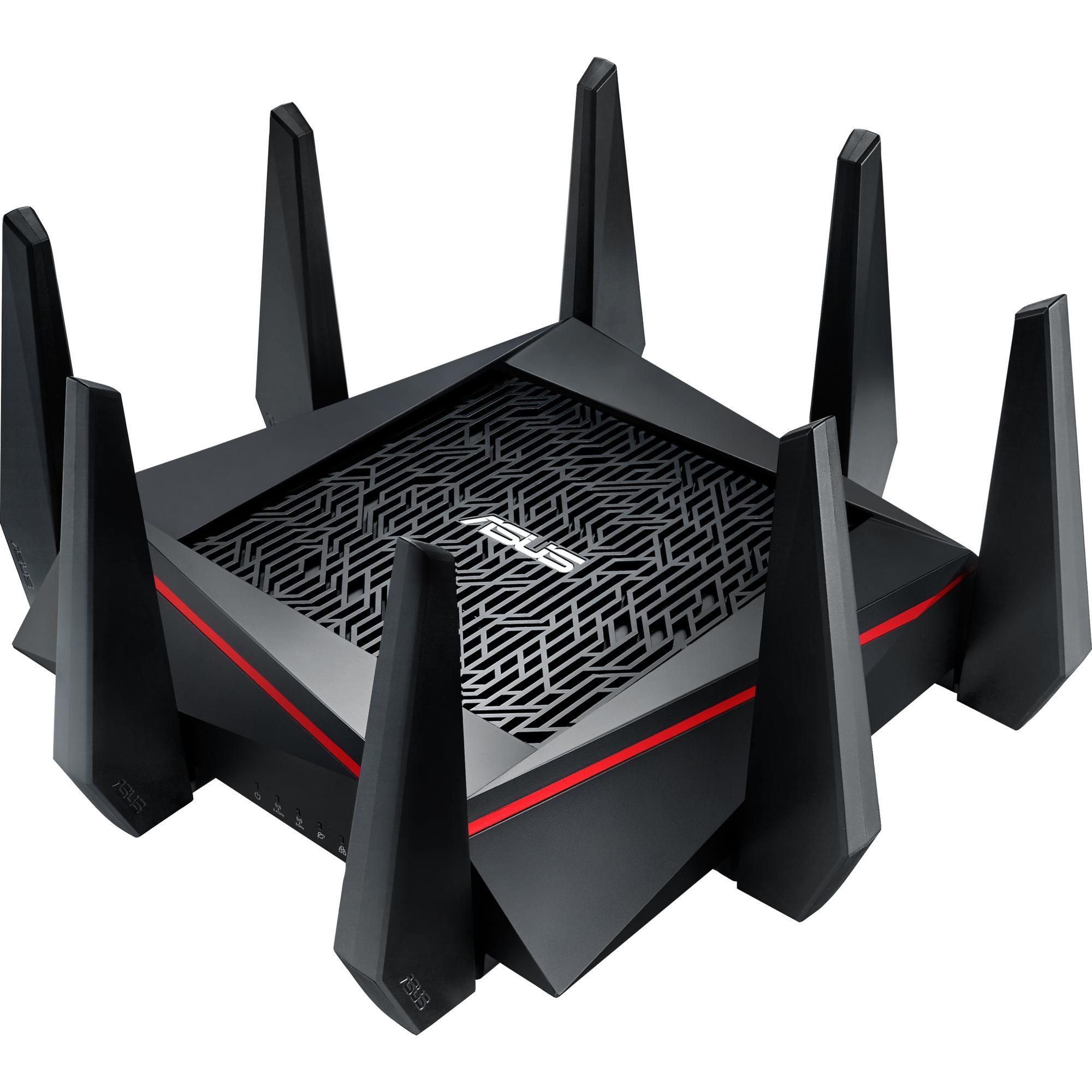RT-AC5300 Tri-bande (2,4 GHz / 5 GHz / 5 GHz) Gigabit Ethernet Noir, Rouge routeur sans fil