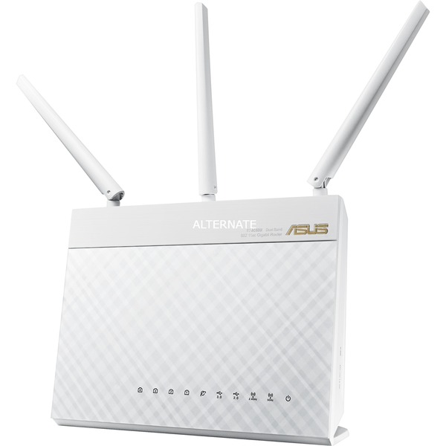 RT-AC68U Bi-bande (2,4 GHz / 5 GHz) Gigabit Ethernet Blanc routeur sans fil
