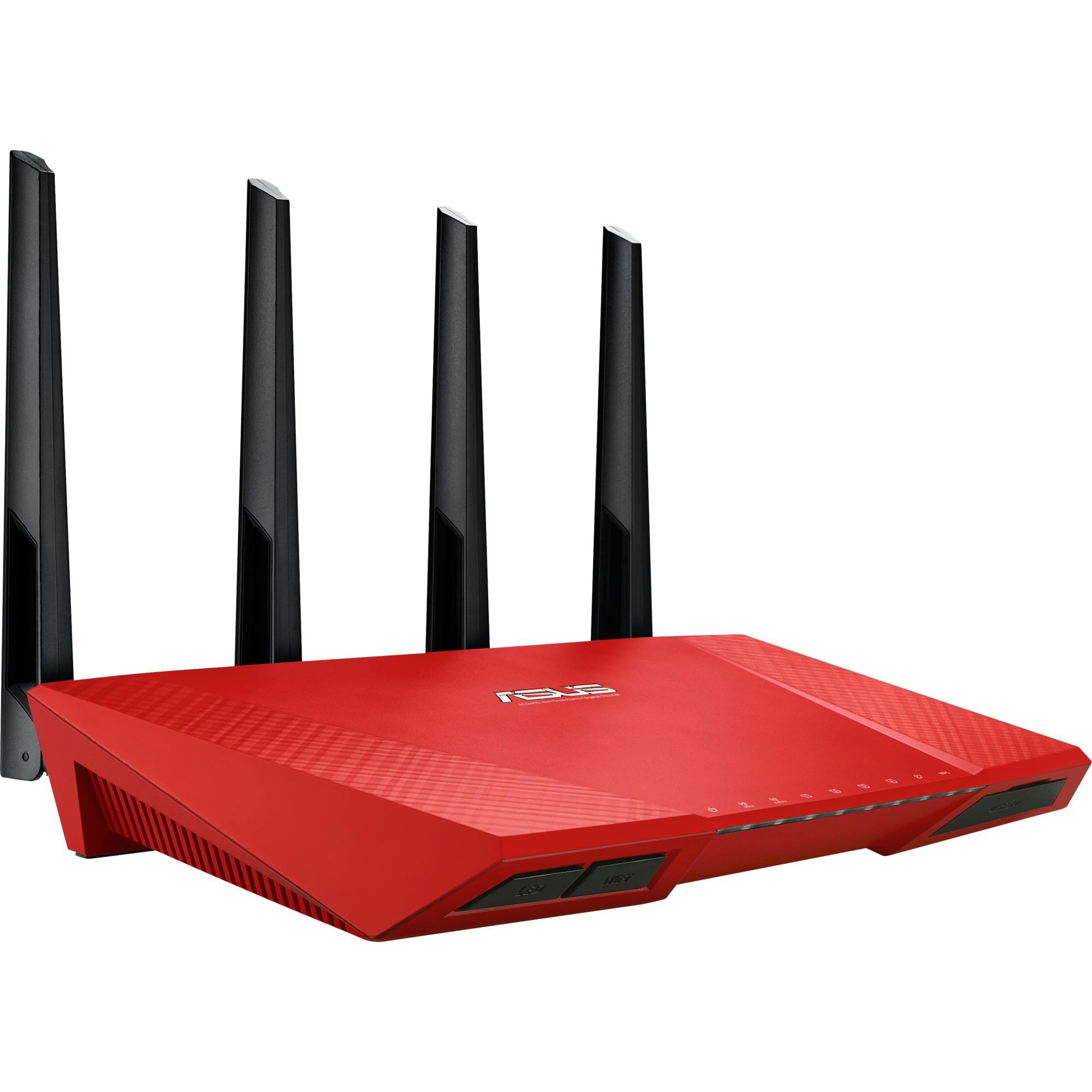 RT-AC87U Bi-bande (2,4 GHz / 5 GHz) Gigabit Ethernet Rouge routeur sans fil