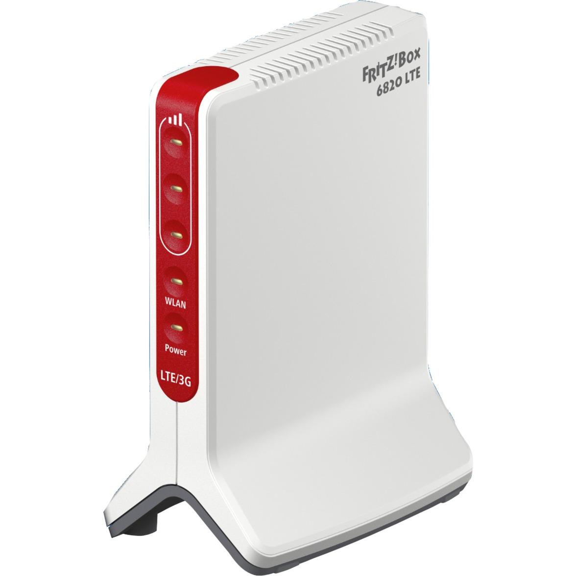 FRITZ!Box 6820 LTE Monobande (2,4 GHz) Gigabit Ethernet 3G 4G Blanc routeur sans fil