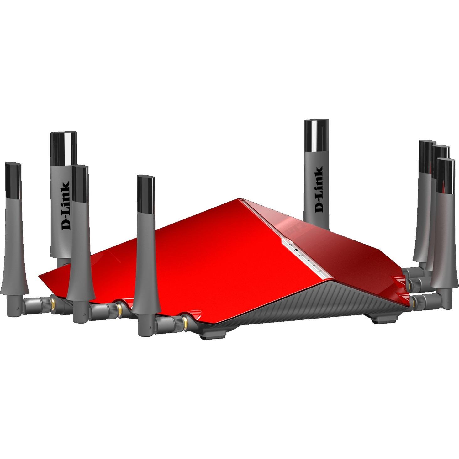DIR-895L/R Tri-bande (2,4 GHz / 5 GHz / 5 GHz) Gigabit Ethernet Noir, Rouge routeur sans fil