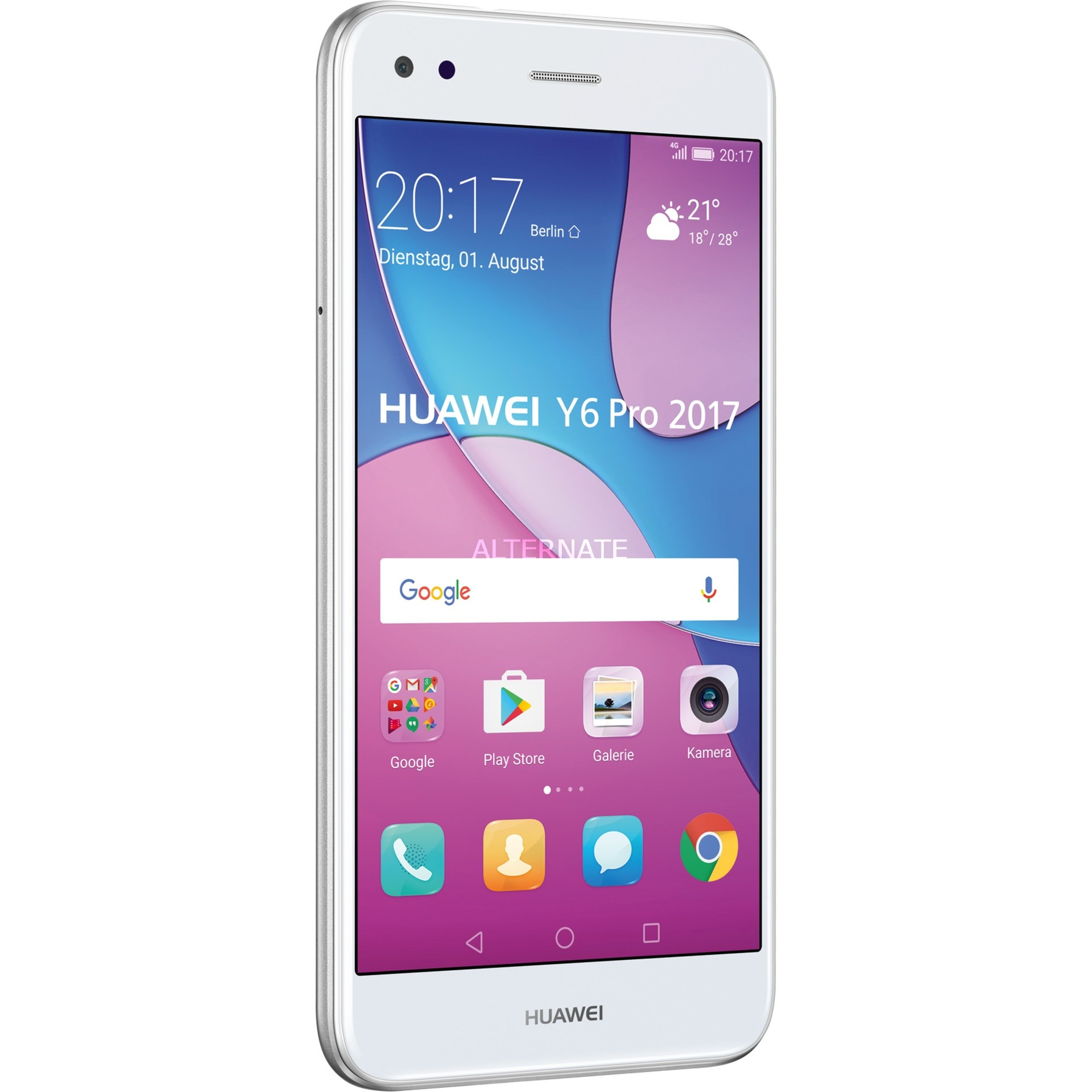 Y 6 Pro (2017) Double SIM 4G 16Go Argent, Mobile