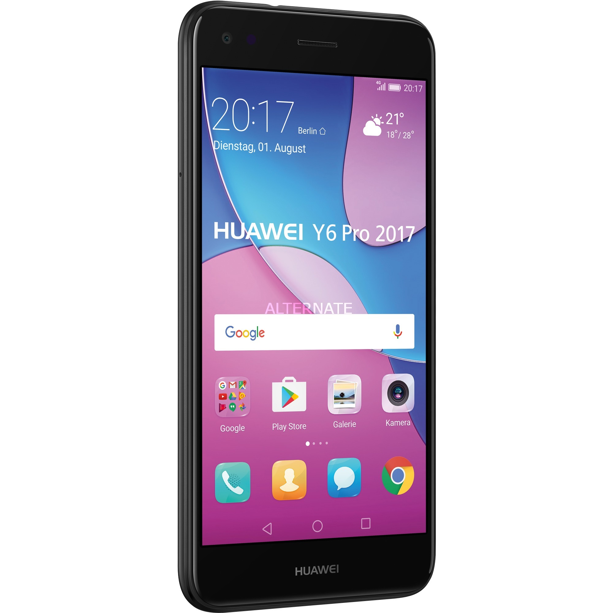 Y 6 Pro (2017) Double SIM 4G 16Go Noir, Mobile