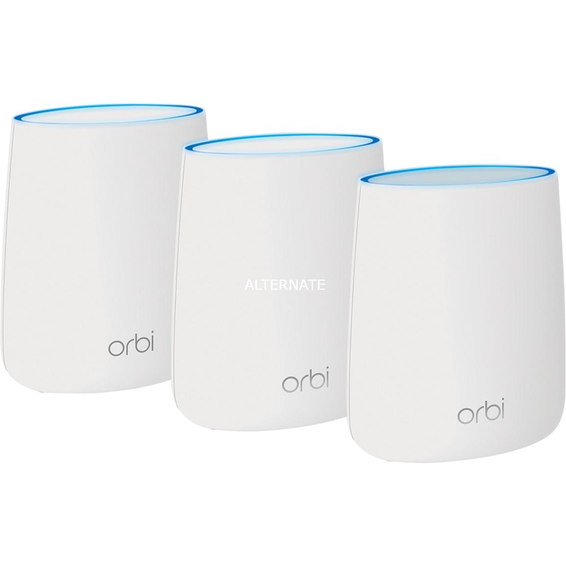 Orbi RBK23 Tri-bande (2,4 GHz / 5 GHz / 5 GHz) Gigabit Ethernet Blanc routeur sans fil