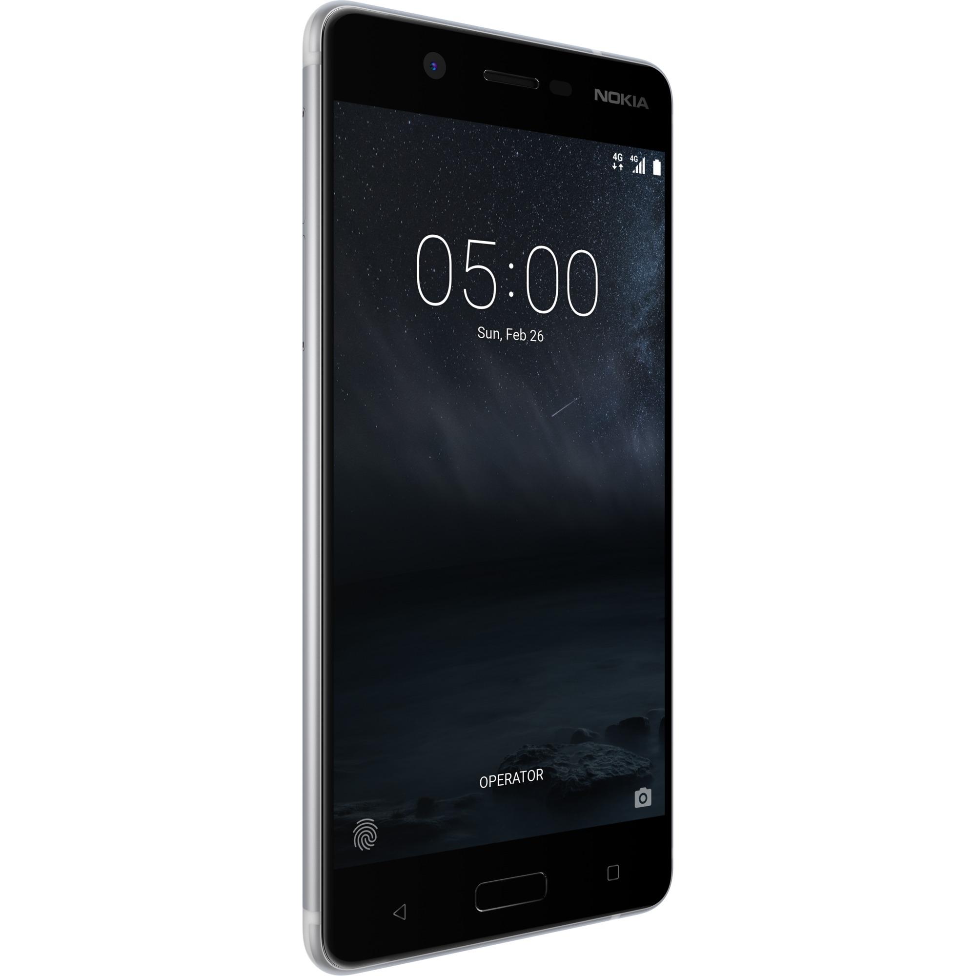 5 Double SIM 4G 16Go Argent, Mobile