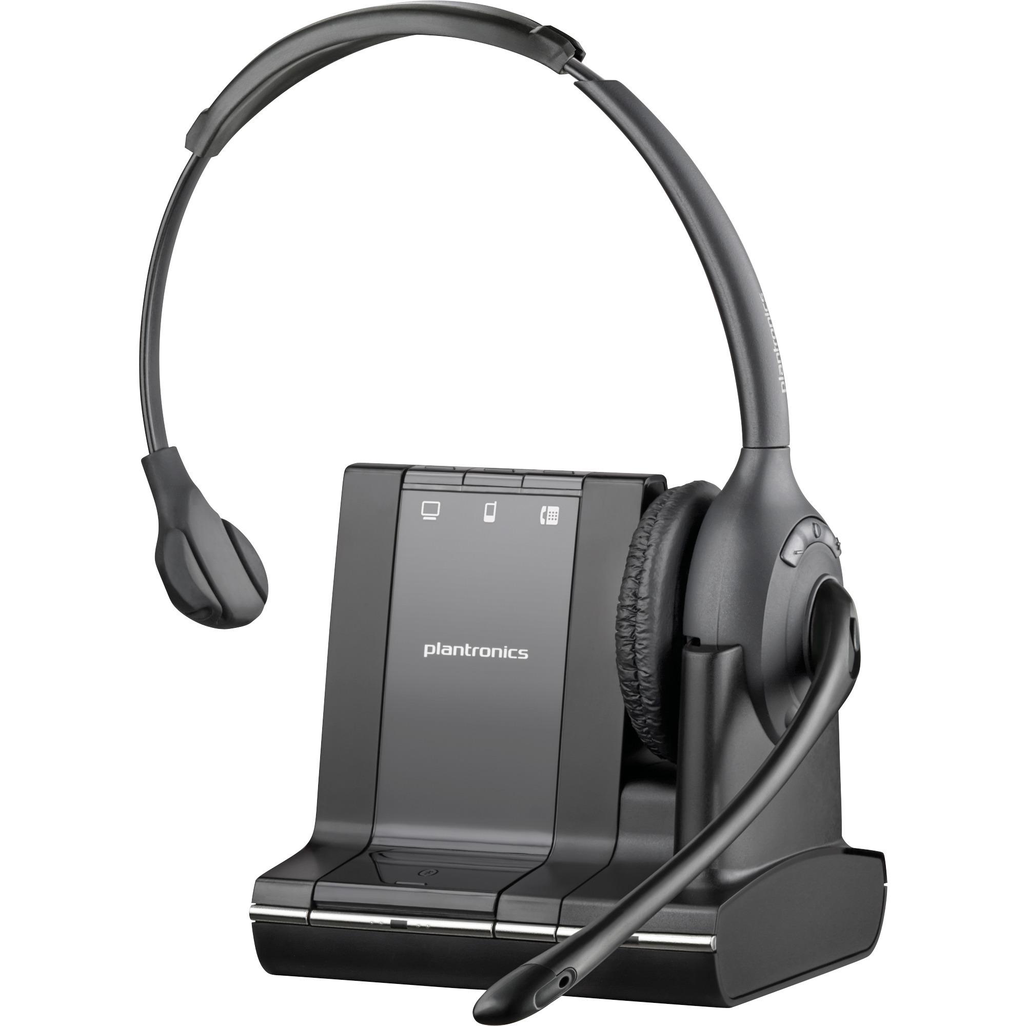 SAVI W710-M Monophonique Bandeau Noir Casque audio, Casque d'écoute