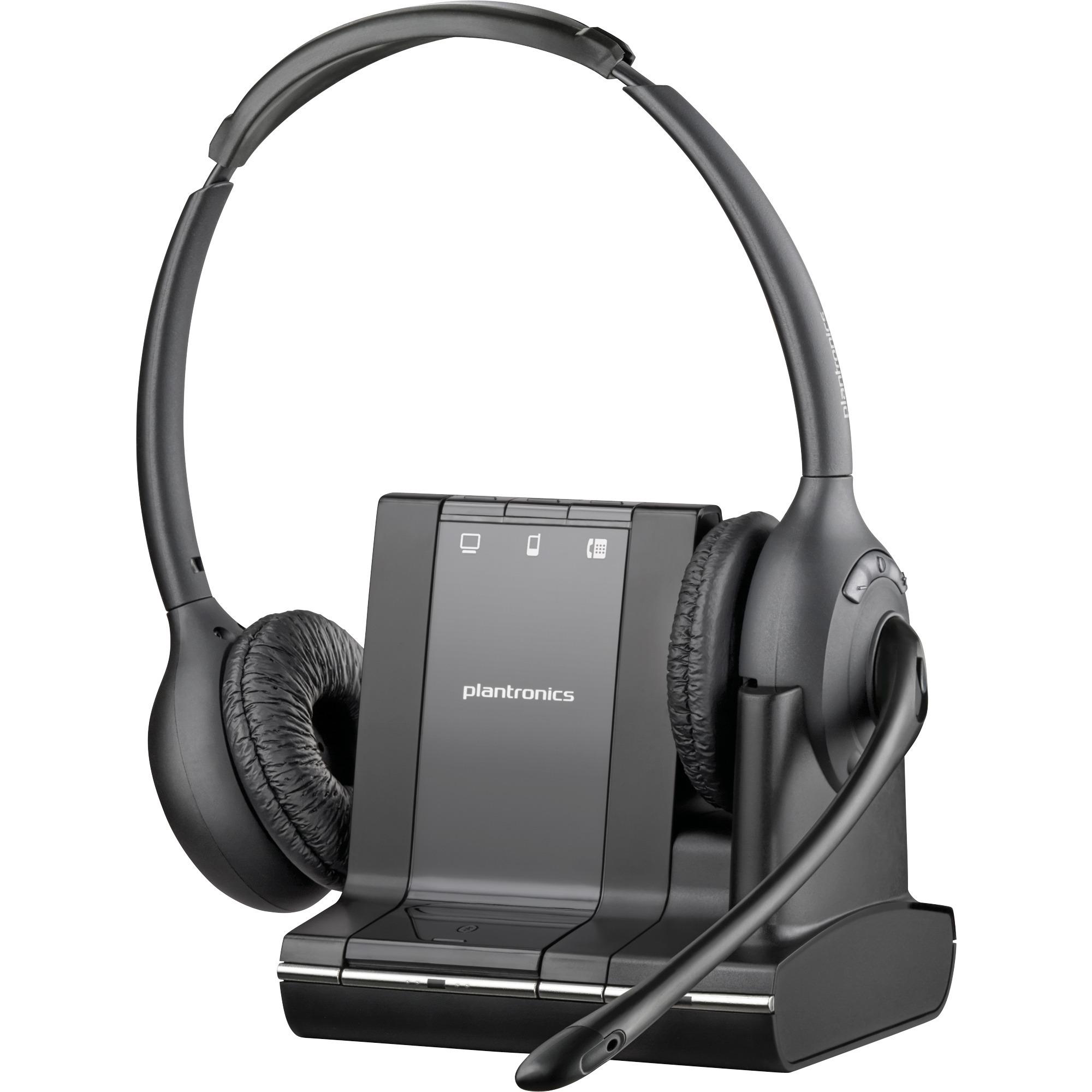 SAVI W720-M Binaural Bandeau Noir Casque audio, Casque d'écoute