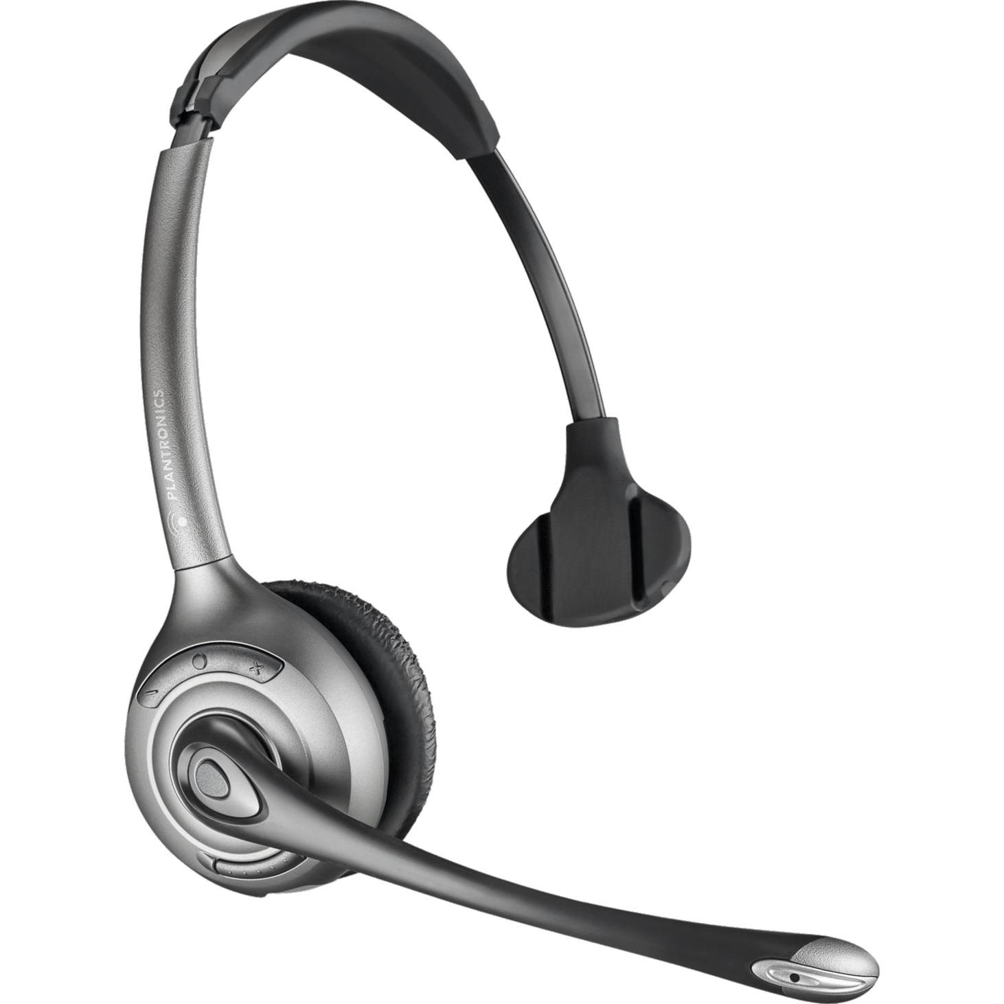 WH300/A Savi OTH Dect Monophonique Bandeau Noir Casque audio, Casque d'écoute