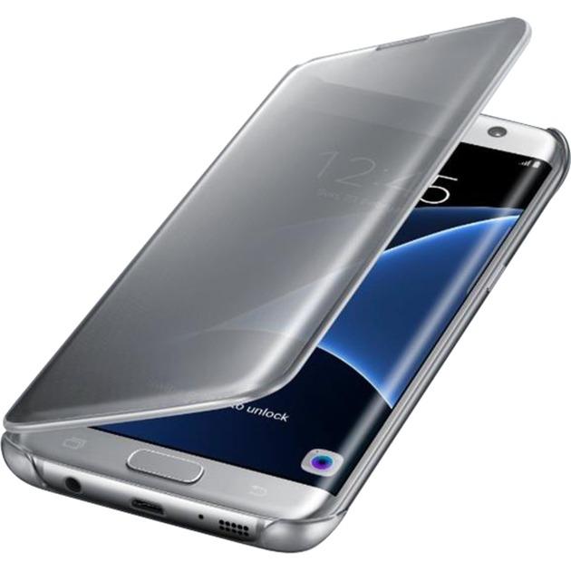 Clear View Etui pour Samsung Galaxy S7 Edge Argent, Étui de protection