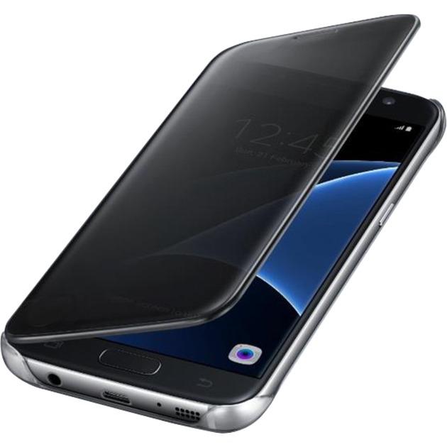 Clear View Etui pour Samsung Galaxy S7 Noir, Étui de protection