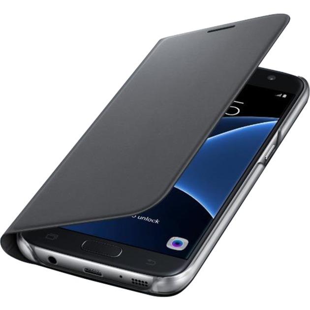 Flip Wallet Etui pour Samsung Galaxy S7 Noir, Étui de protection