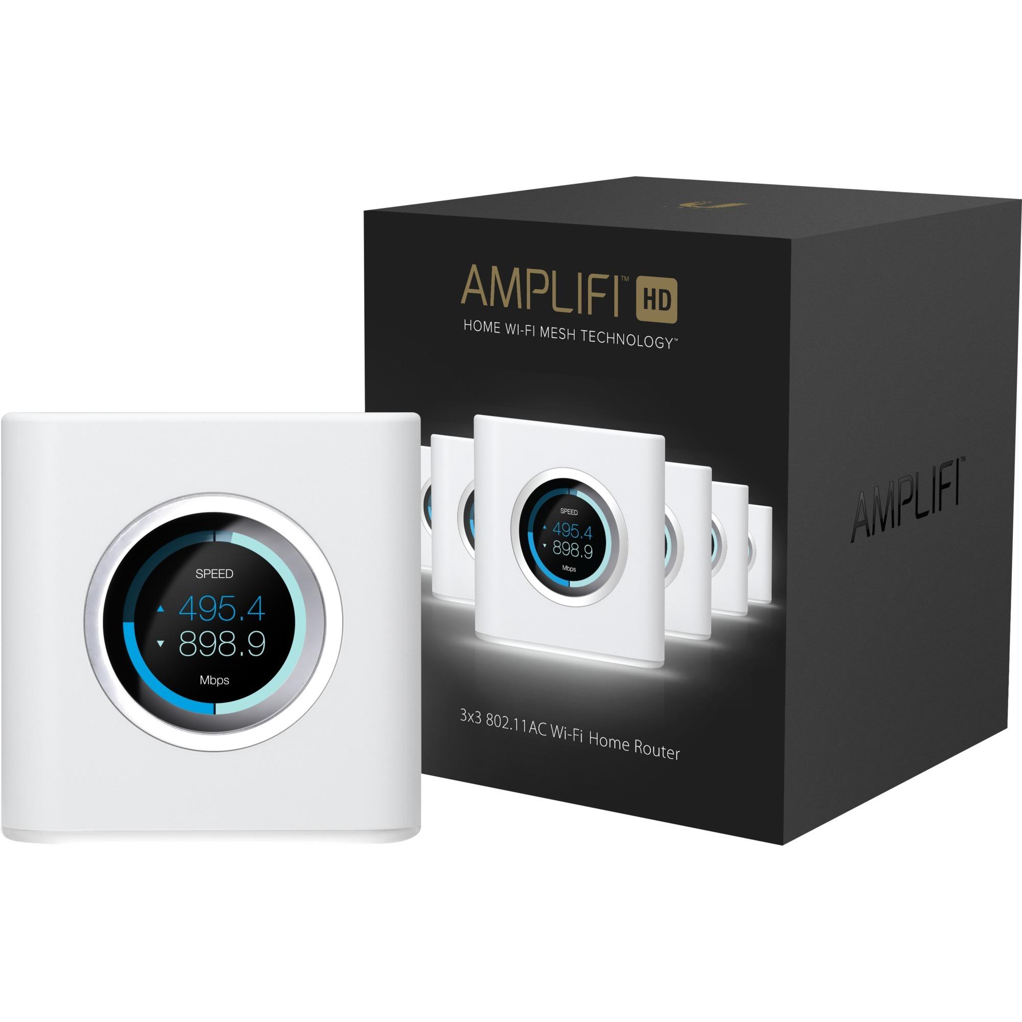 AmpliFI HD Mesh Router Bi-bande (2,4 GHz / 5 GHz) Gigabit Ethernet Blanc routeur sans fil, Routeur de maille