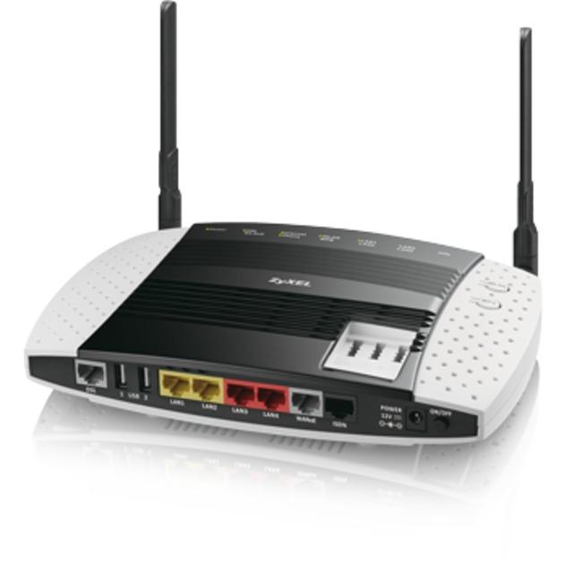 VMG8546-D70A Bi-bande (2,4 GHz / 5 GHz) Gigabit Ethernet Noir, Blanc routeur sans fil