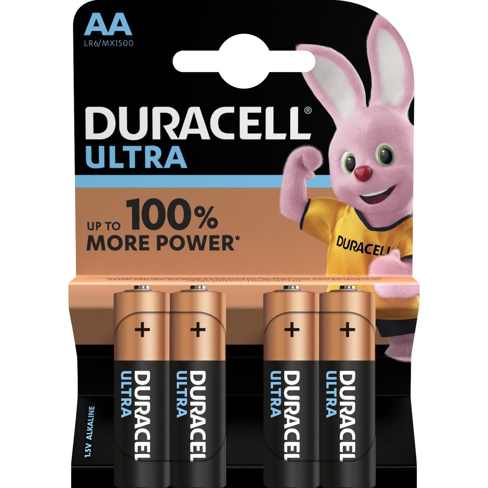 AA Ultra Power (4pcs) Alcaline 1.5V pile non-rechargeable, Batterie