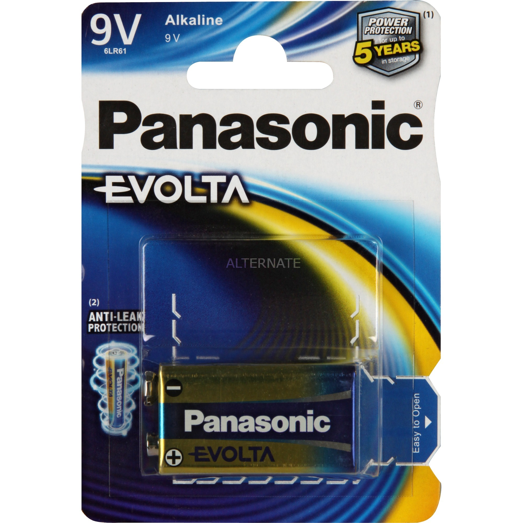 Evolta Alcaline 9V pile non-rechargeable, Batterie