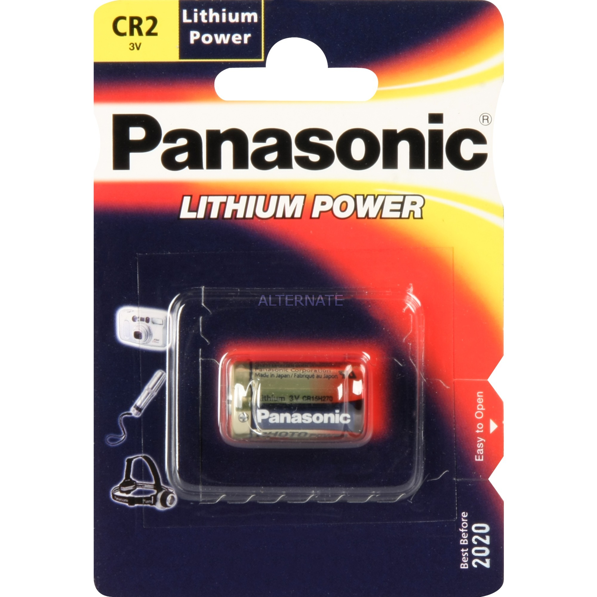 Photo Lithium Battery CR-2 Oxyhydroxyde de nickel (NiOx) 3V pile non-rechargeable, Batterie