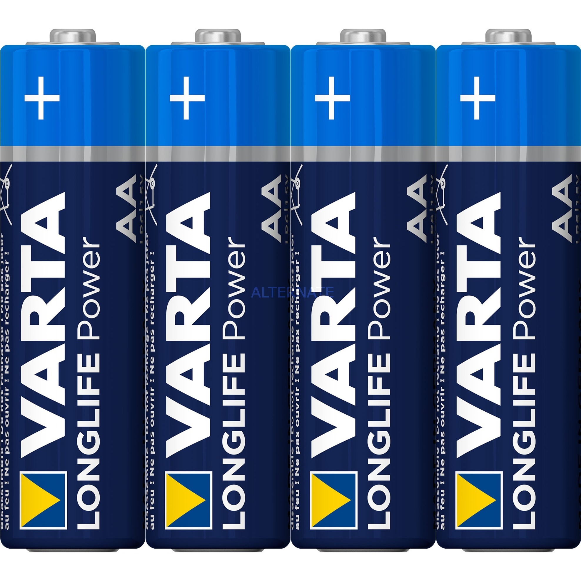 4906, 4-Pack Alcaline 1.5V pile non-rechargeable, Batterie