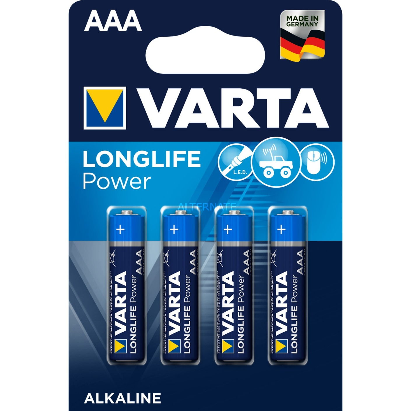 High Energy AAA Alcaline 1.5V pile non-rechargeable, Batterie