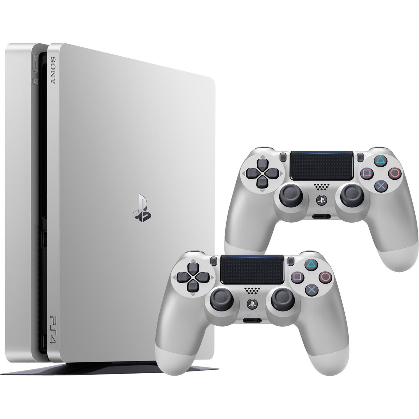 PlayStation 4 + Dualshock 4 V2 500Go Wifi Argent, Console de jeu