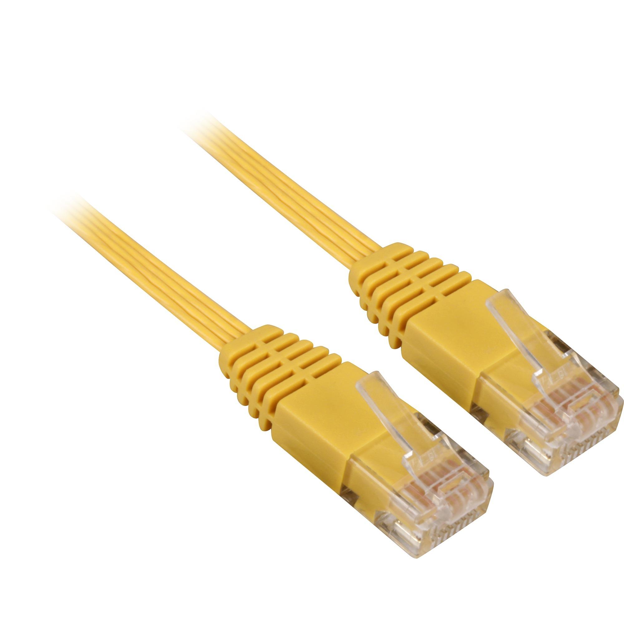 CAT 5e, U/UTP, 7.5m 7.5m Cat5e U/UTP (UTP) Jaune câble de réseau