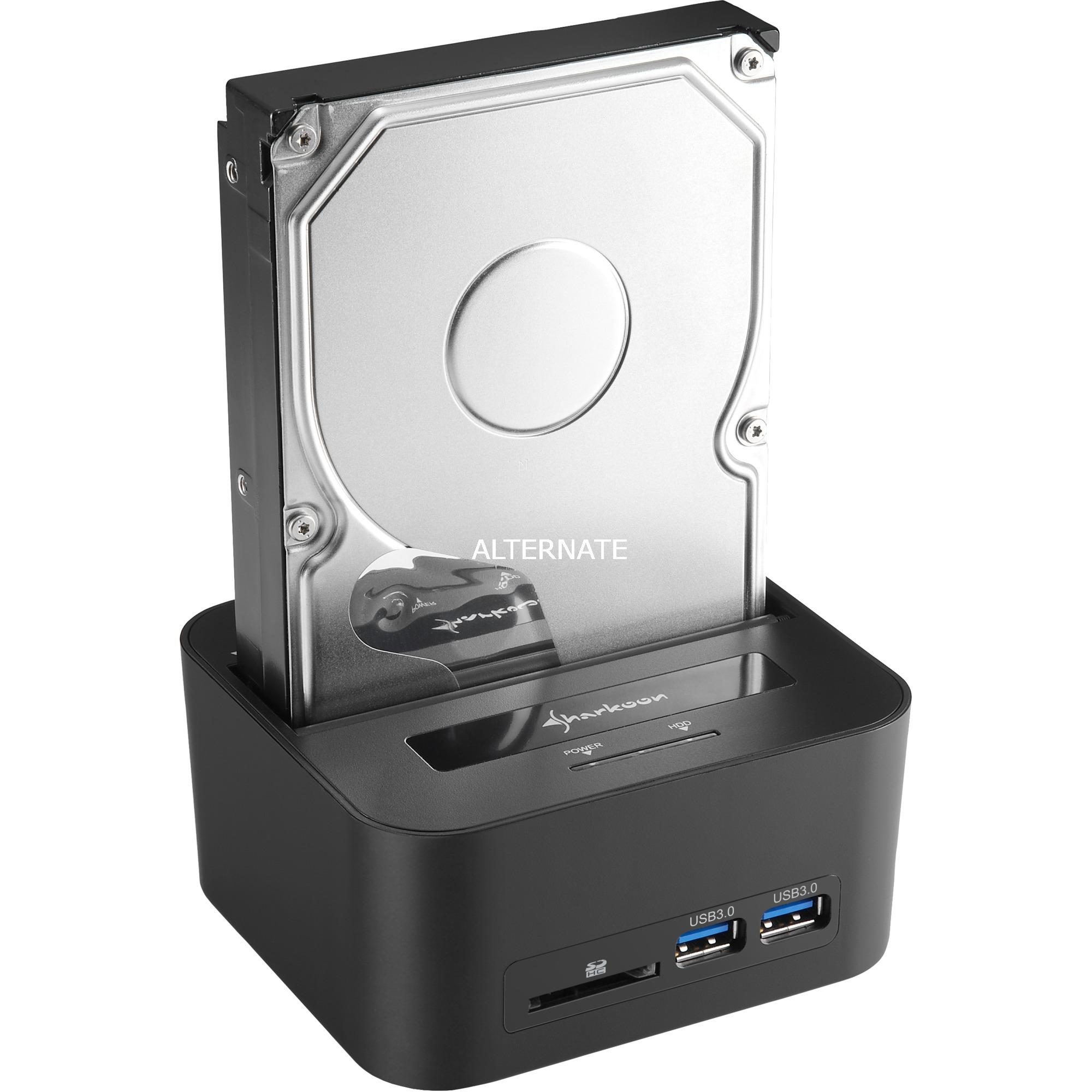 QuickPort XT HC PRO USB 3.1 (3.1 Gen 2) Type-B Noir, Station d'accueil