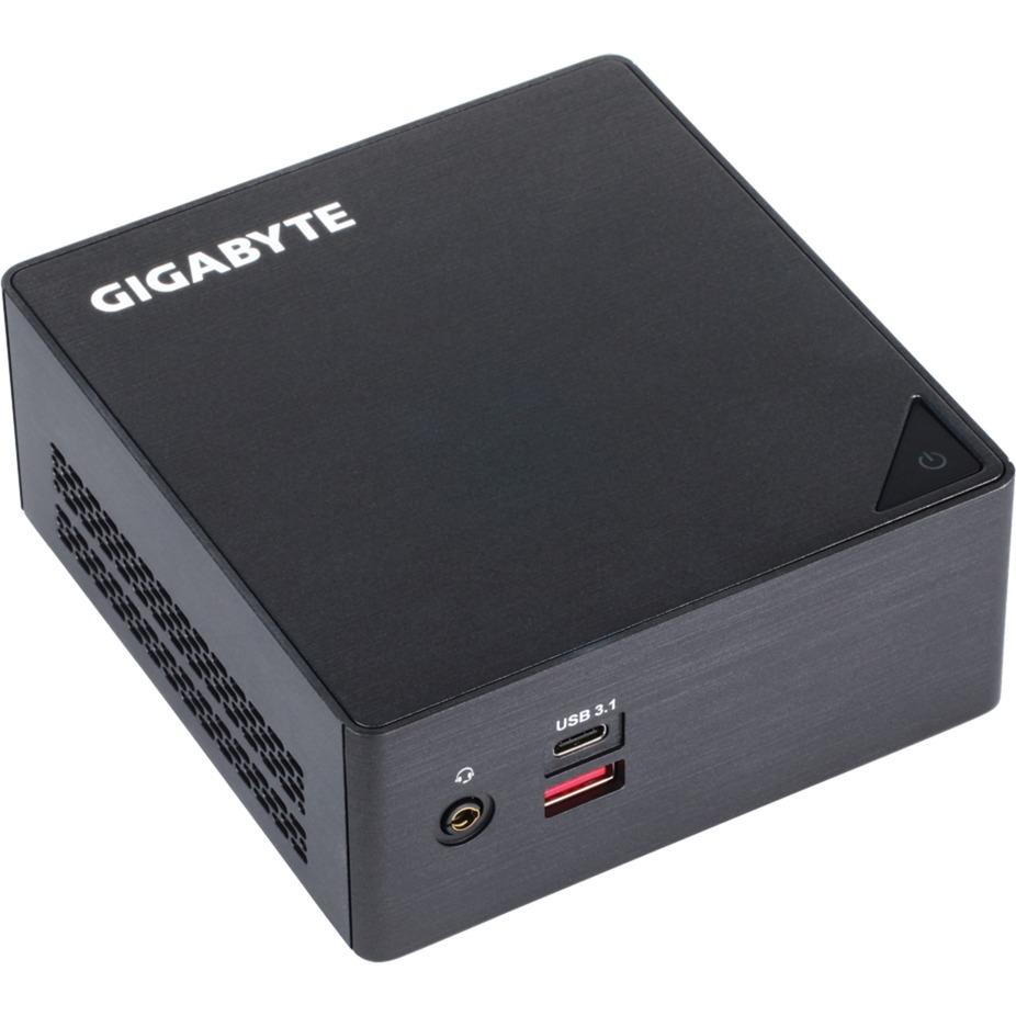 GB-BSI5HA-6300 LGA 1356 (Socket B2) 2.4GHz i5-6300U 0,6L mini PC Noir barebone PC/ poste de travail