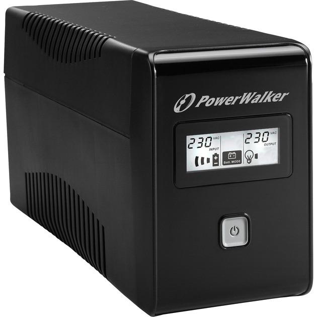 VI 650 LCD 650VA 2sortie(s) CA Tour Noir alimentation d'énergie non interruptible, UPS