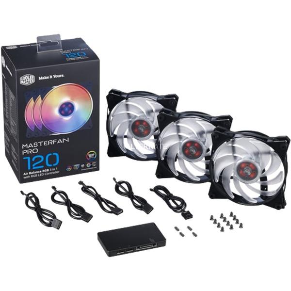 MasterFan Pro 120 Air Balance RGB Boitier PC Ventilateur, Ventilateur de boîtier