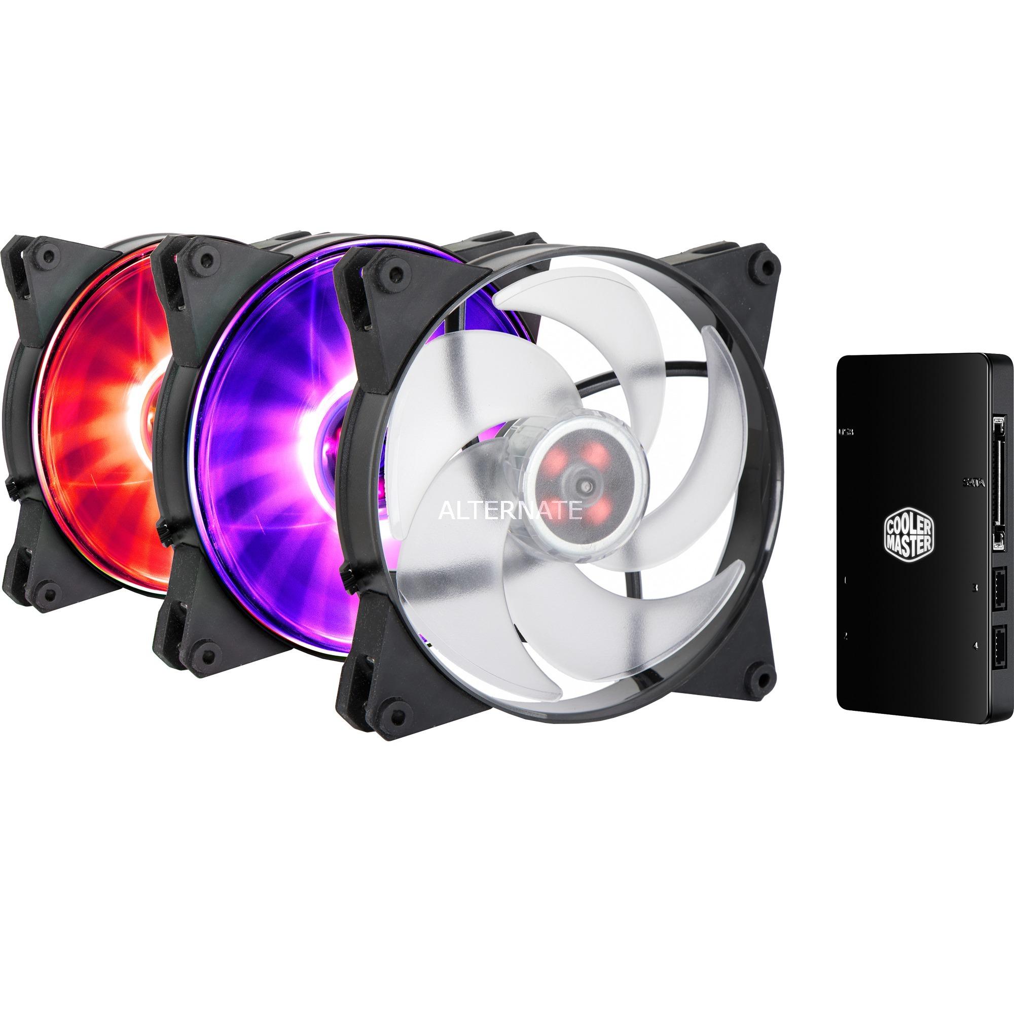 MasterFan Pro 140 Air Pressure RGB Boitier PC Ventilateur, Ventilateur de boîtier
