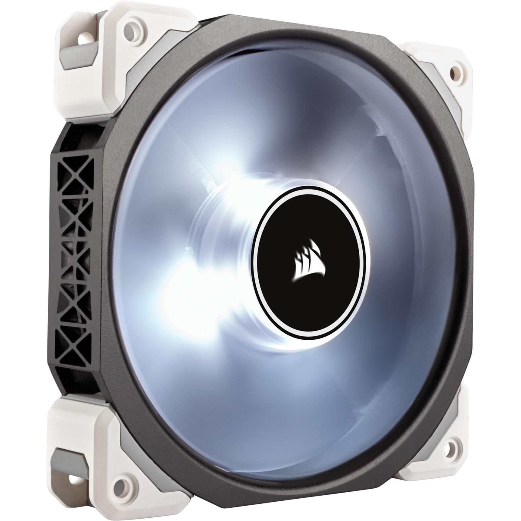 Air ML120 Pro Boitier PC Ventilateur 12 cm Noir, Transparent, Ventilateur de boîtier (Blanc, Boitier PC, Ventilateur, 12 cm, 400 trmin, 2400 trmin,