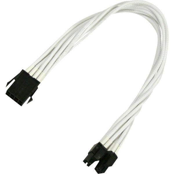 900400020 4+4-pin EPS 8-pin EPS Blanc adaptateur et connecteur de câbles, Câble d'extension