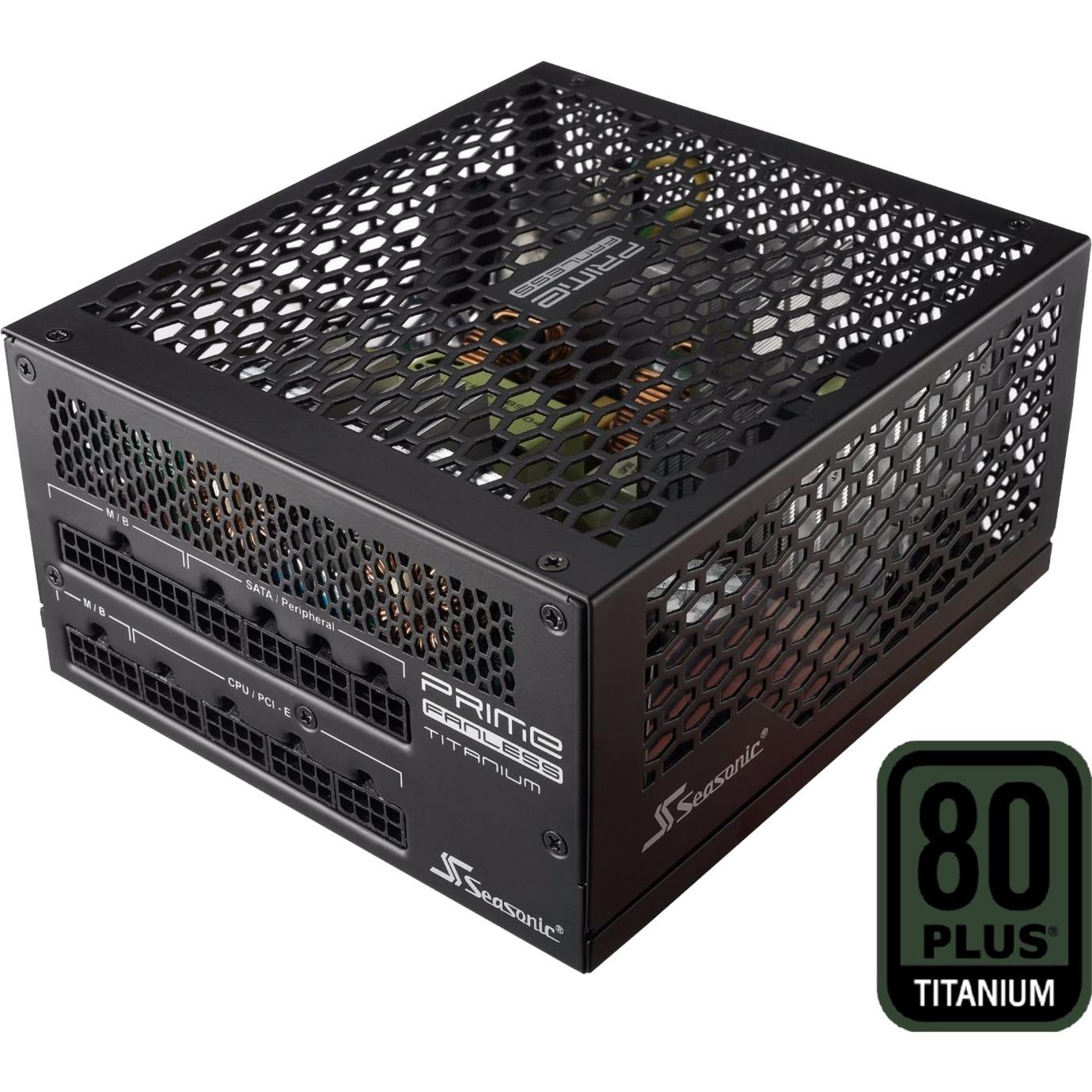 Prime 600 Titanium 600W ATX Noir unité d'alimentation d'énergie, Alimentation PC