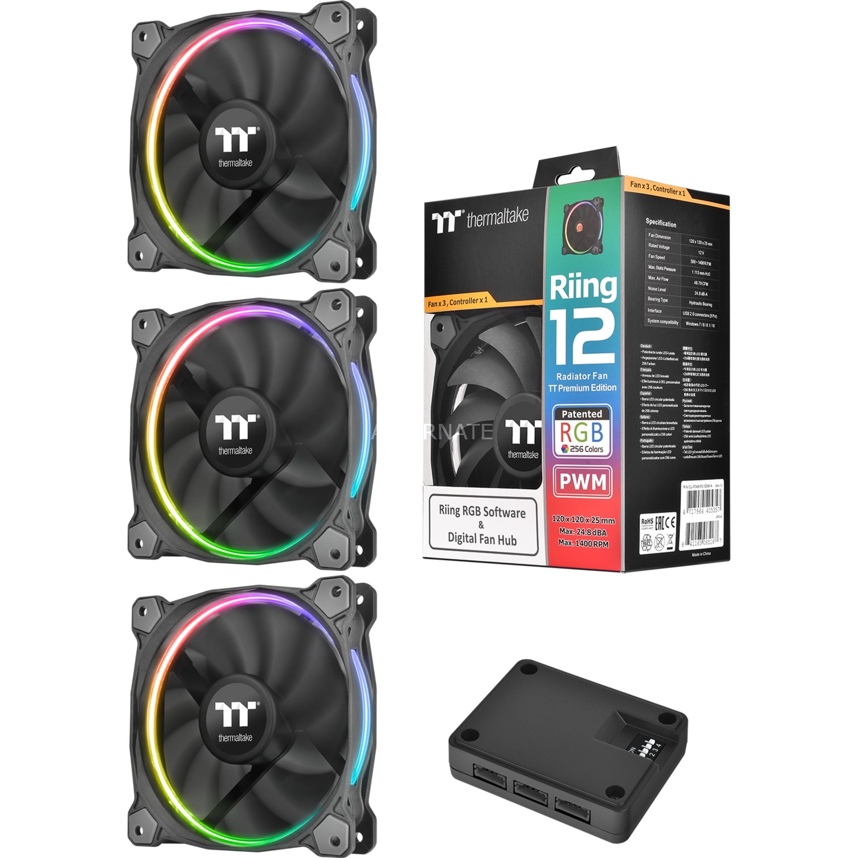 Riing 12 RGB Boitier PC Ventilateur, Ventilateur de boîtier