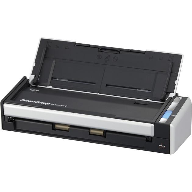 ScanSnap S1300i Alimentation papier de scanner 600 x 600DPI A4 Noir, Argent
