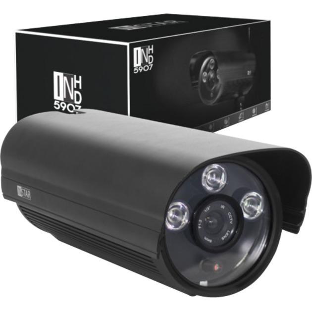 IN-5907HD IP security camera Extérieur Cosse Noir, Caméra de surveillance