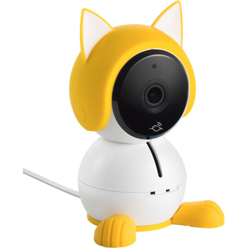 ABA1000 IP security camera Intérieur Cube Blanc, Jaune, Module