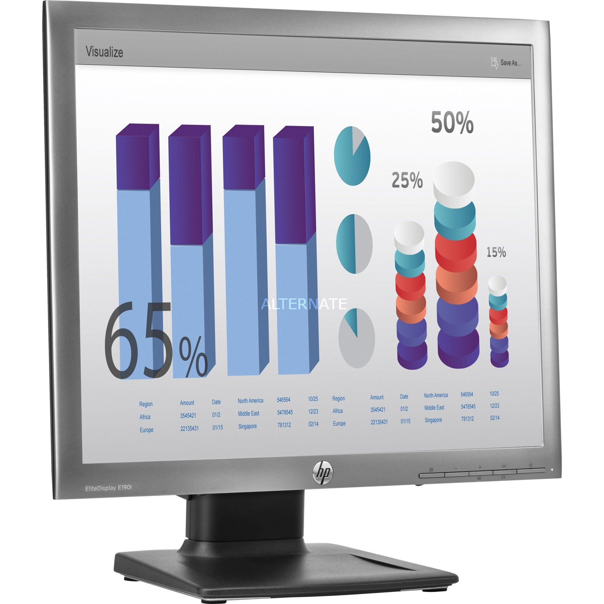 Ecran à rétroéclairage LED EliteDisplay E190i 18,9 pouces, 5:4, Moniteur LED