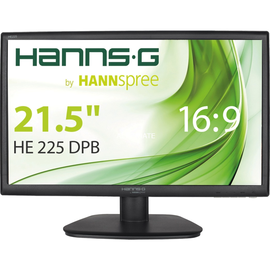 Hanns g he225dpb 21 5 full hd lcd noir cran plat de pc for Ecran pc brillant