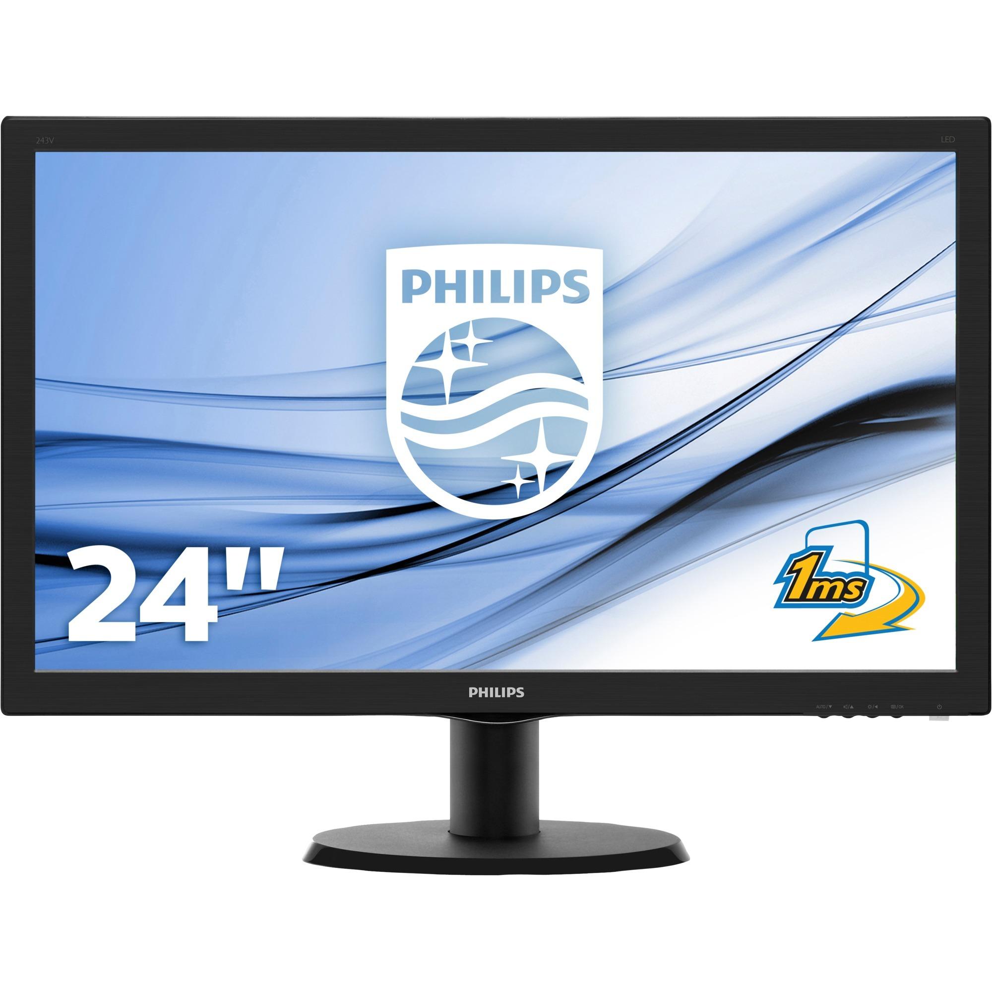 Moniteur LCD avec SmartControlLite 243V5LHAB/00, Affichage LED