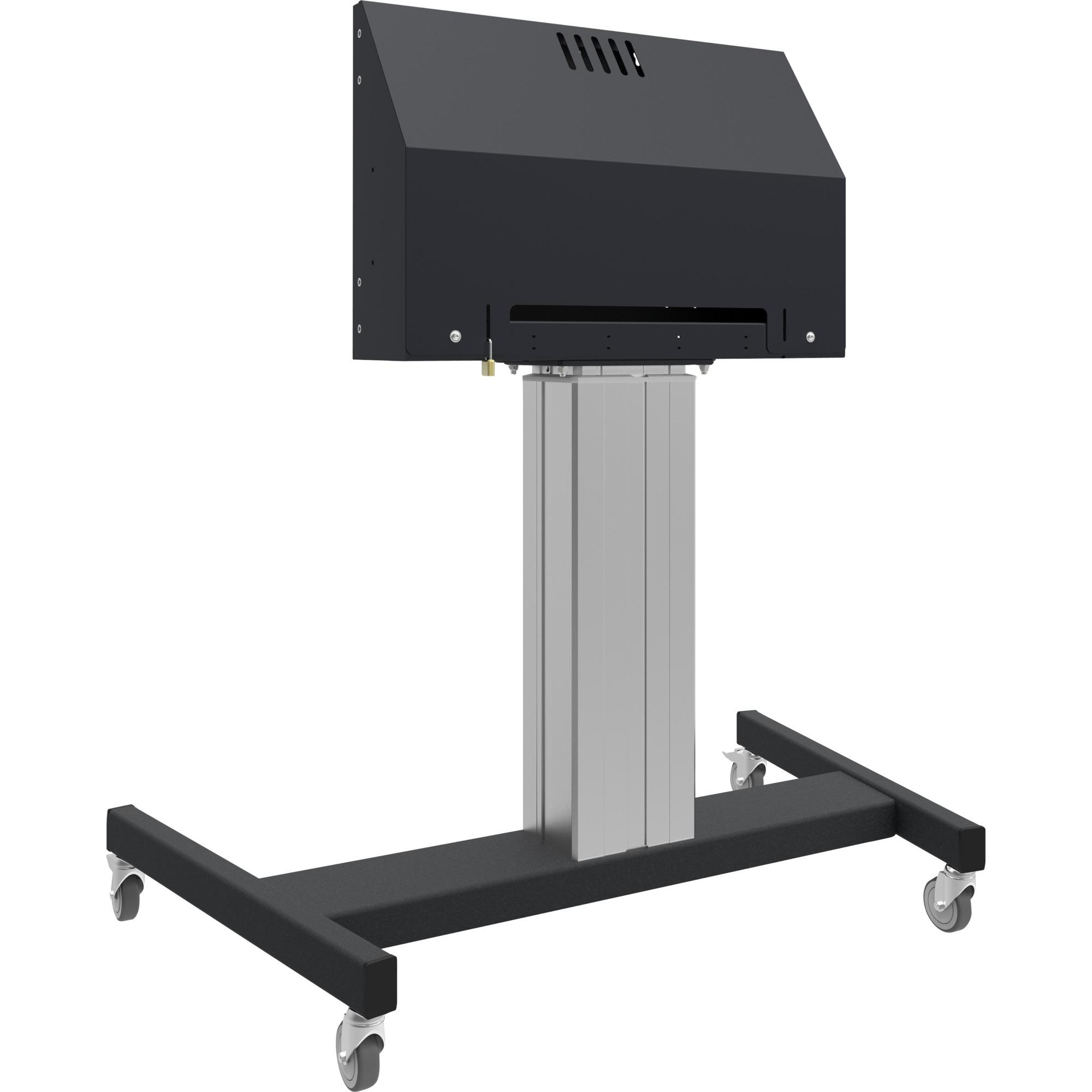 MD 062B7295 Portable flat panel floor stand Noir, Gris socle d'écrans plats, Mont