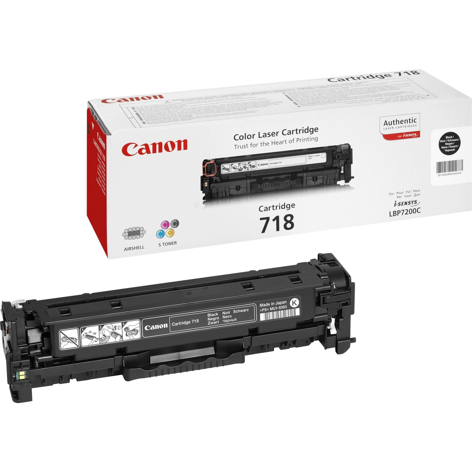 CRG-718 Bk Cartouche laser 3400pages Noir, Toner