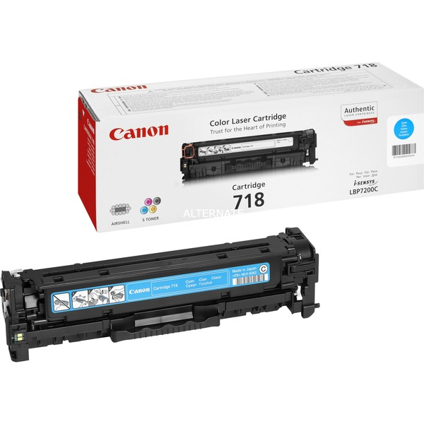 CRG-718 C Laser cartridge 2900pages Cyan, Toner